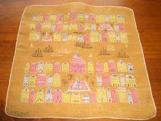 Vintage Tammis Keefe City Harbor Hanky Handkerchief Hankies | eBay
