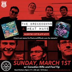 Contest: Win Tickets to The Brokedowns and Meat Wave in Chicago PLUS vinyl - For the Love of Punk