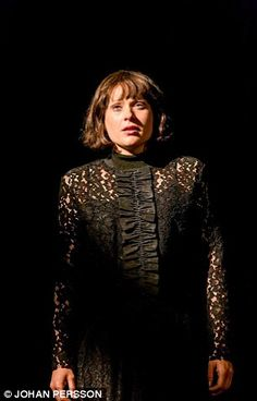 Sian Brooke as Ophelia, who delivers the play's best moment when she departs for the last ...
