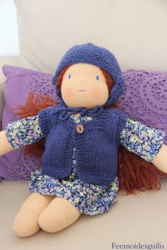 tuto bonnet et gilet pour poupées HTSY