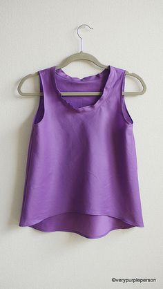 Purple Tank Top with red necklace