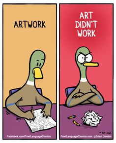 Duck Hates Mondays, Too: A Comedian About A Hen We Can All Relate To All of us have points with the stresses of contemporary day life. So does Dicky the Duck, the star of Fowl Language Comics, drawn by Brian Gordon. Funny Art, Funny Memes, Hilarious, Funny Troll, Top Funny, Stupid Funny, Bd Comics, Funny Comics, Wolves Of Wall Street