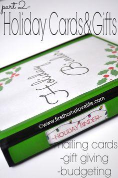 Holiday Organization Binder {part 2} #budgeting #holidays #christmas #hanukkah #gifts