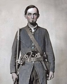 "This photo is identified as the ""typical"" South Carolina Confederate soldier. Many Confederate soldiers used they're own guns and often even shoes and clothes. Because the South had far fewer factories and mills than the yankees, many times, individual soldiers had to resort to using they're own materials. This was a significant disadvantage for the Confederate soldier and the Confederate army as a whole."