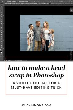 Knowing how to do a convincing head swap is key to making group photos work. Learn how with this step by step video and illustrated tutorial. Photoshop Video, Cool Photoshop, Photoshop Photos, Photoshop Tutorial, Photoshop Actions, Advanced Photoshop, Photoshop For Photographers, Photoshop Photography, Photo Work