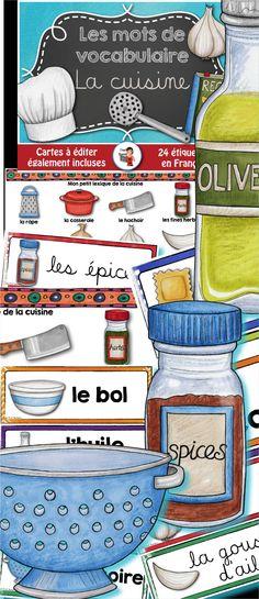 Mots-étiquettes sur le thème de la CUISINE.