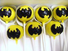 Batman Cake Pops at NashvilleSweets.com