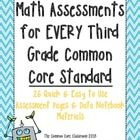 Teaching the new Common Core State Standards isn't exactly easy and assessing can be an even bigger challenge! In attempts to make your life a little easier, we have deconstructed each and every third grade standard and developed original questions. This packet includes an assessment page for every third grade CCSS math standard and the materials for students to track their own progress....maybe even in a data notebook.