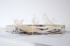 Arch models granola 1 kg cena - Granola Concept Models Architecture, Landscape Architecture, Interior Architecture, Japan Architecture, Arch Model, Library Design, Villa, Construction, House Design
