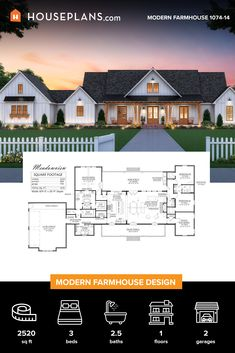 The best farmhouse style floor plans. Find simple modern & traditional farmhouses, small 2 story country designs & more! Call for expert help. Barn House Plans, Family House Plans, Country House Plans, New House Plans, Dream House Plans, Farmhouse Floor Plans, Modern Farmhouse Exterior, Farmhouse Style, House Blueprints