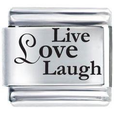 #10: Live Love Laugh Laser Etched Italian Charm