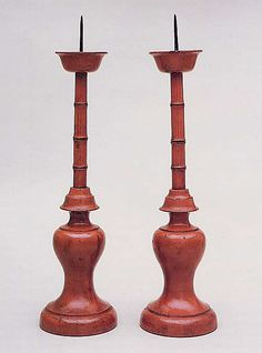 pair of 16th century Japanese candle sticks