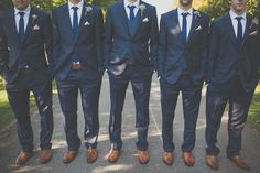 Navy blue suits are