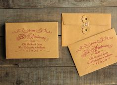 Elegant Return Address Stamp, Rubber Stamp for Wedding Invitations and Save the Date Envelopes, Calligraphy Typography, Hand Drawn Stamp