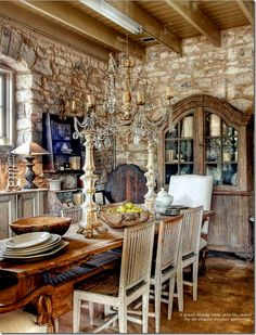 Gypsy Purple home. — rrantiques: The Garten/Fredericksburg,TX via. French Country Cottage, French Country Style, French Farmhouse, French Decor, French Country Decorating, Purple Home, Boho Home, Stone Houses, Rustic Elegance