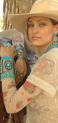 sw style and  indian jewelery on model