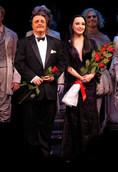 Nathan Lane and Bebe Neuwirth as Gomez and Morticia.
