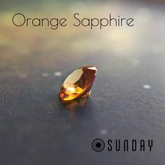#sundaygems #sapphire #orange #gem #gemstones