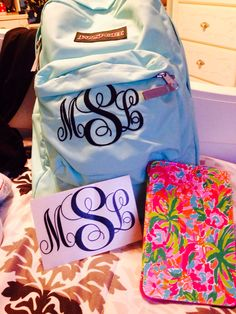 Lilly and monograms for Christmas
