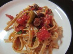 Linguine puttanesca - Vegansprout