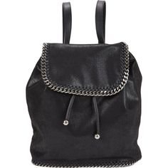 Stella McCartney Falabella Shaggy Deer Backpack ($1,295) ❤ liked on Polyvore featuring bags, backpacks, backpack, black, backpacks bags, stella mccartney bags, rucksack bag, flap bag and black flap bag