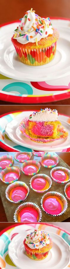 Rainbow Cupcakes http://sulia.com/my_thoughts/58ff16cf-525a-4134-997f-12ec1573bb94/?source=pin&action=share&ux=mono&btn=big&form_factor=desktop&sharer_id=0&is_sharer_author=false