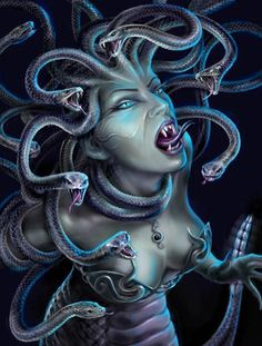 Medusa - One of the Gorgons, and the only one who was mortal. Her gaze could turn whoever she looked upon to stone. There is a particular myth in which Medusa was originally a beautiful maiden. She desecrated Athena's temple by lying there with Poseidon. Outraged, Athena turned Medusa's hair into living snakes. Medusa was killed by the hero Perseus with the help of Athena and Hermes. He killed her by cutting off her head and gave it to Athena, who placed it in the center of her Aegis, which…