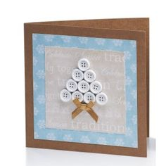 Button Tree Card | Craft Ideas & Inspirational Projects | Hobbycraft #christmascard #christmaspapercraft #christmastree #handmade #buttons #gift