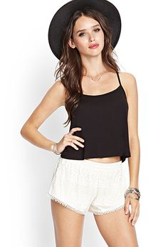 Crochet Lace Shorts | FOREVER 21 - 2000105709