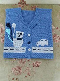 Baby Cardigan Knitting Pattern Free, Baby Knitting Patterns, Hand Knitting, Moda Emo, Knitted Baby Clothes, Crochet Home Decor, Sweater Design, Baby Sweaters, Crochet Animals