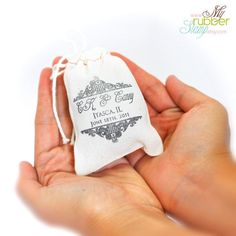 Muslin Bags, LOGO Stamp & Fabric Ink Pad PACKAGE. 100 3x4 Cotton Bags, 1 Rubber Stamp and 1 Ink Pad. DIY Business Packaging, $59.90