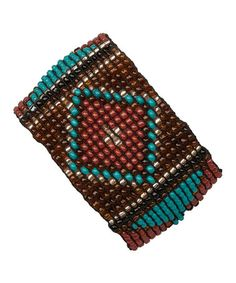 Another great find on #zulily! Amber & Turquoise Beaded Stretch Bracelet by ZAD #zulilyfinds
