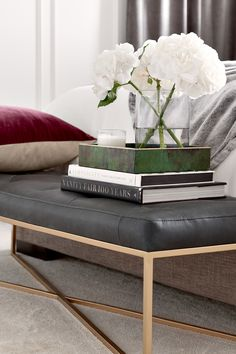 Take a scroll through our wide selection of beautiful mid-century modern ottomans and outfit your home in just a few clicks. Black Ottoman, Modern Ottoman, Tufted Bench, Ottoman Bench, Living Spaces, Living Room, Steel Structure, Footrest, Soho