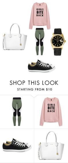 """Untitled #2046"" by angfra ❤ liked on Polyvore featuring Charli Cohen, Converse, Michael Kors and Rolex"