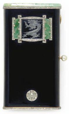 Art Deco vanity case , 1925. I wish it were a cigarette case