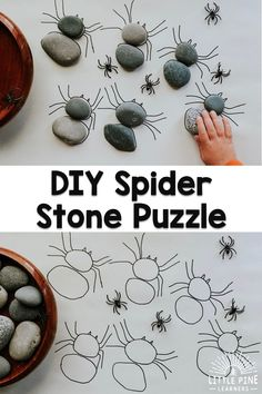 Here is a simple DIY stone activity that kids will love! This is a great activit… – kindergarden Forest School Activities, Nature Activities, Montessori Activities, Preschool Activities, Outdoor Activities For Kids, Outdoor Education, Outdoor Learning, Halloween Games, Nature Crafts