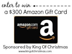 Celebrating Christmas In My Home & $300 Amazon Giveaway Sponsored by King of Christmas #giveaway #christmas