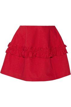 J Brand | + Simone Rocha ruffled denim mini skirt | NET-A-PORTER.COM