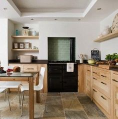 Contemporary kitchen with Rayburn