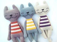 Diy Crochet Toys, Gato Crochet, Crochet Panda, Crochet Bunny, Crochet Patterns Amigurumi, Crochet Animals, Crochet Dolls, Crochet Yarn, Crochet Projects