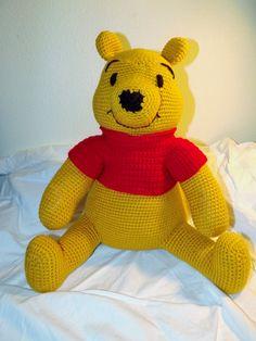 Crocheted amigurumi Winnie the Pooh teddy by SweetpeasBoutique27, $65.00