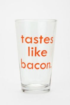 My hubby needs this glass, lol.