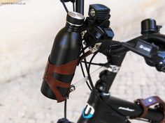 Bicycle Leather Front Bottle Cage | @HappyBicycle.pt