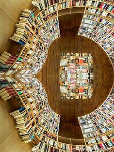 Inside Ler Devagar bookstore in Óbidos, Portugal