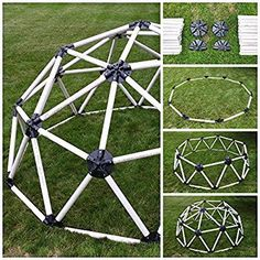 DIY Geodesic Dome Hub Connector Kit for Pipe inch) Climbing Dome, Garden Igloo, Polycarbonate Greenhouse, Dome Structure, Geodesic Dome Homes, Pvc Pipe Projects, Dome House, Diy Greenhouse, Diy For Kids
