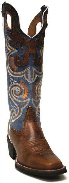 Tony Lama Womens 3R Square Toe Cowboy Boot -- These boots scream winter princess! #BootSeason | SouthTexasTack.com