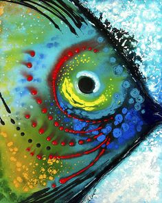Tropical Fish - Art by Sharon Cummings Art Print