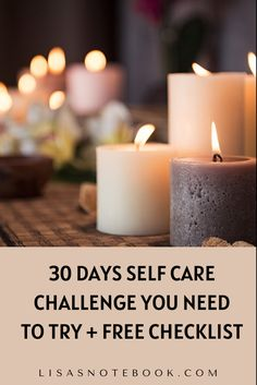 Have you tried a 30 day self care challenge? This new blog post has 30 self care activities that you can try as well as a free checklist of ideas you can use. #selfcare #selfcarechallenge #selfcarechecklist #selfcareideas