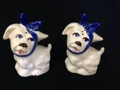 Pair of Vintage Shawnee Salt & Pepper Shakers Muggsy Toothache Dogs