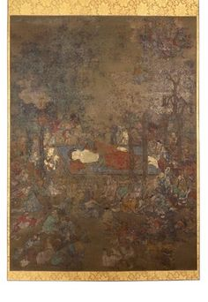 COMPASS Image Caption: The Death of the Buddha, a hanging scroll painting